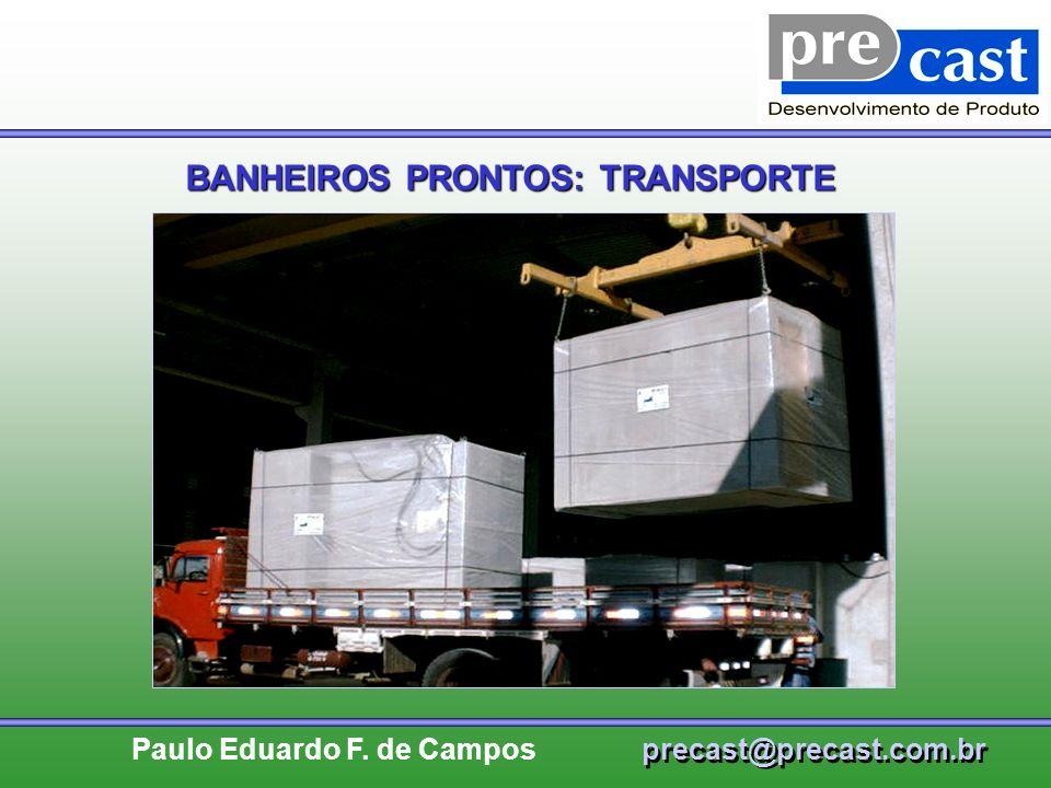 BANHEIROS PRONTOS: TRANSPORTE