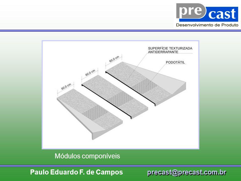 Módulos componíveis Título da Palestra: Artefatos de cimento.