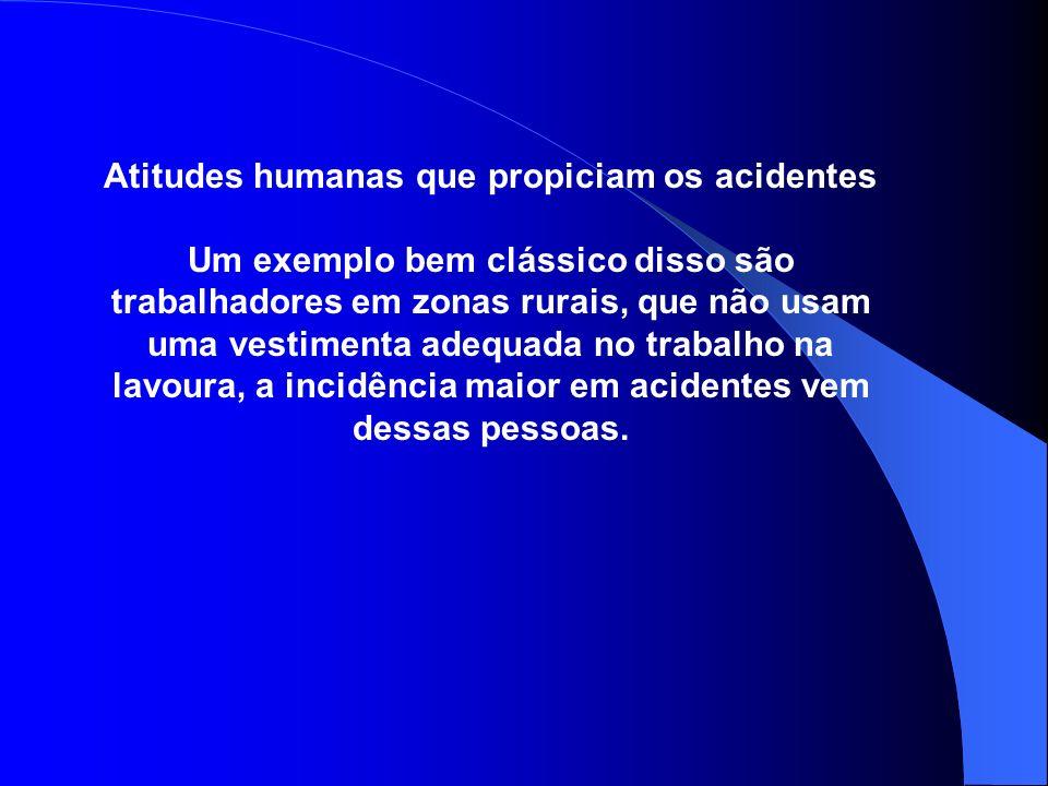 Atitudes humanas que propiciam os acidentes