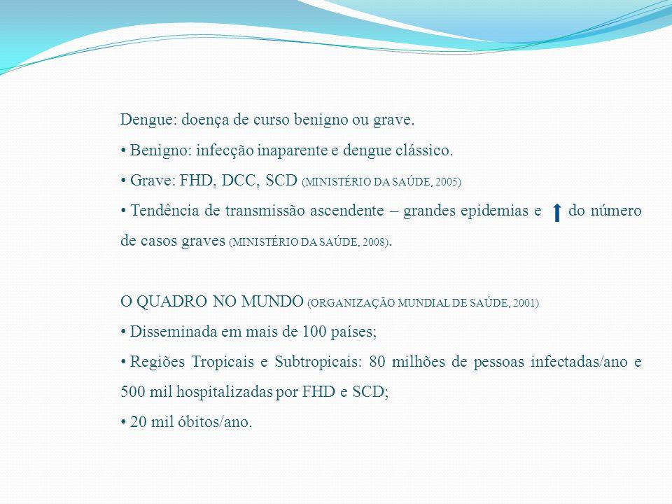 Dengue: doença de curso benigno ou grave.