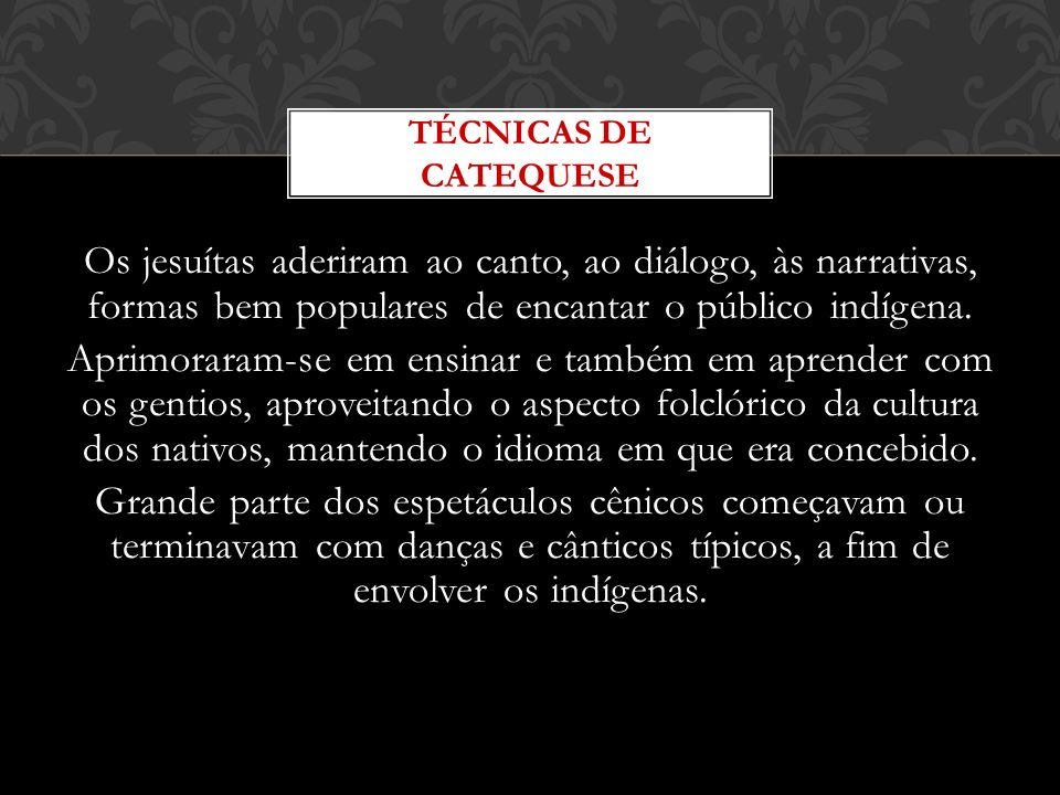 TÉCNICAS DE CATEQUESE