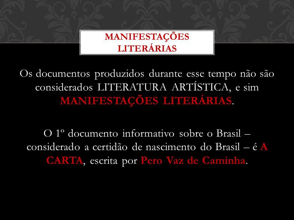 MANIFESTAÇÕES LITERÁRIAS