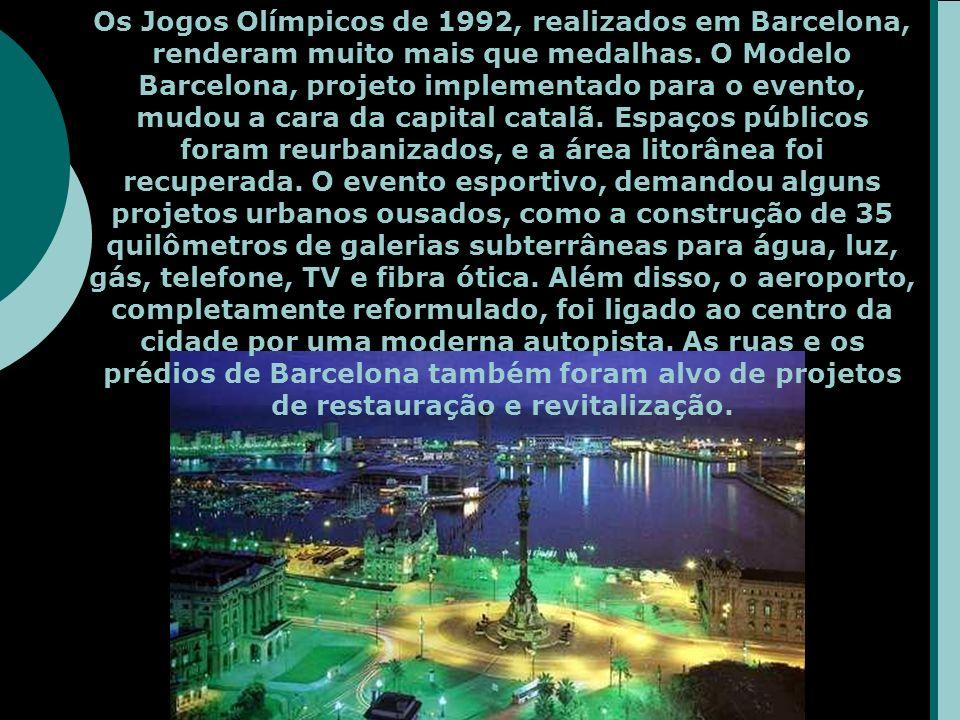 Os Jogos Olímpicos de 1992, realizados em Barcelona, renderam muito mais que medalhas.