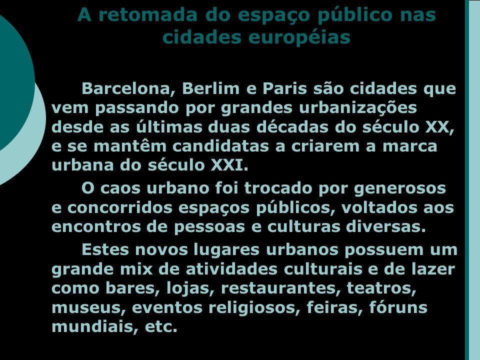A retomada do espaço público nas cidades européias