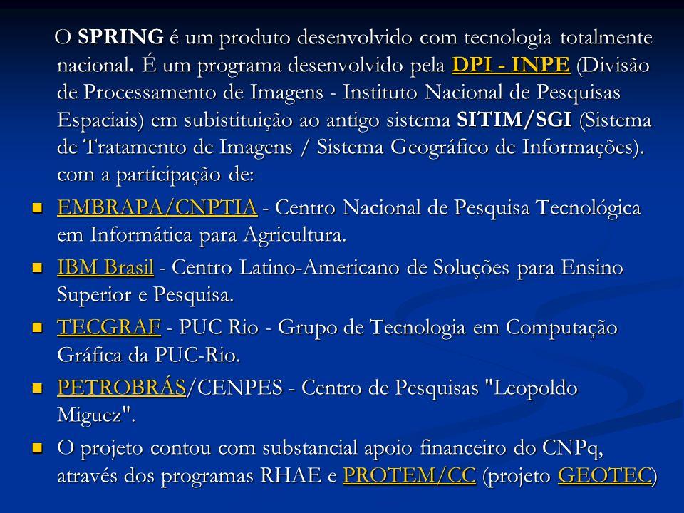 O SPRING é um produto desenvolvido com tecnologia totalmente nacional