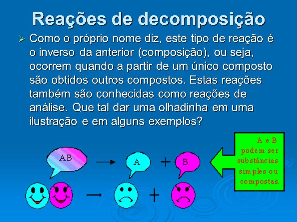 Reações de decomposição