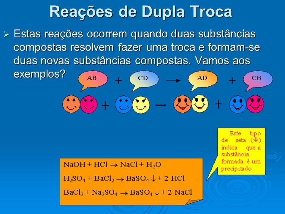 Reações de Dupla Troca