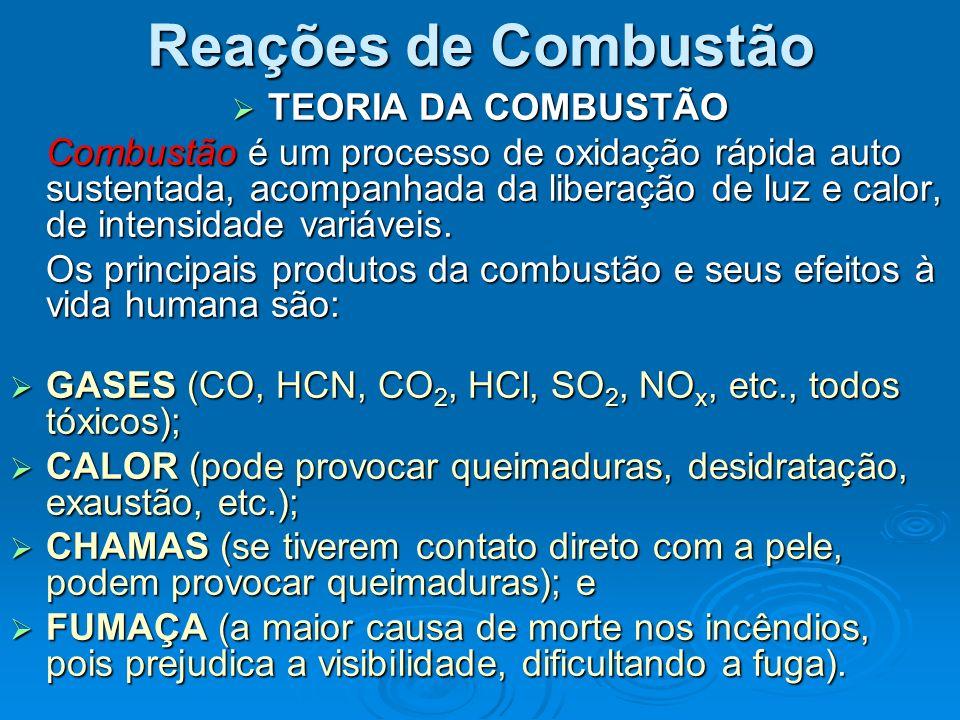 Reações de Combustão TEORIA DA COMBUSTÃO