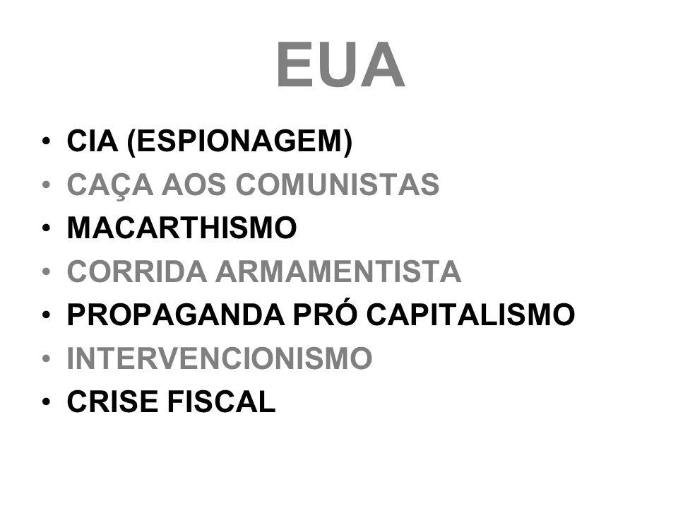 EUA CIA (ESPIONAGEM) CAÇA AOS COMUNISTAS MACARTHISMO