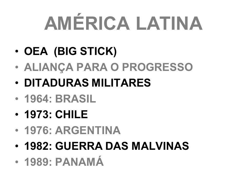AMÉRICA LATINA OEA (BIG STICK) ALIANÇA PARA O PROGRESSO