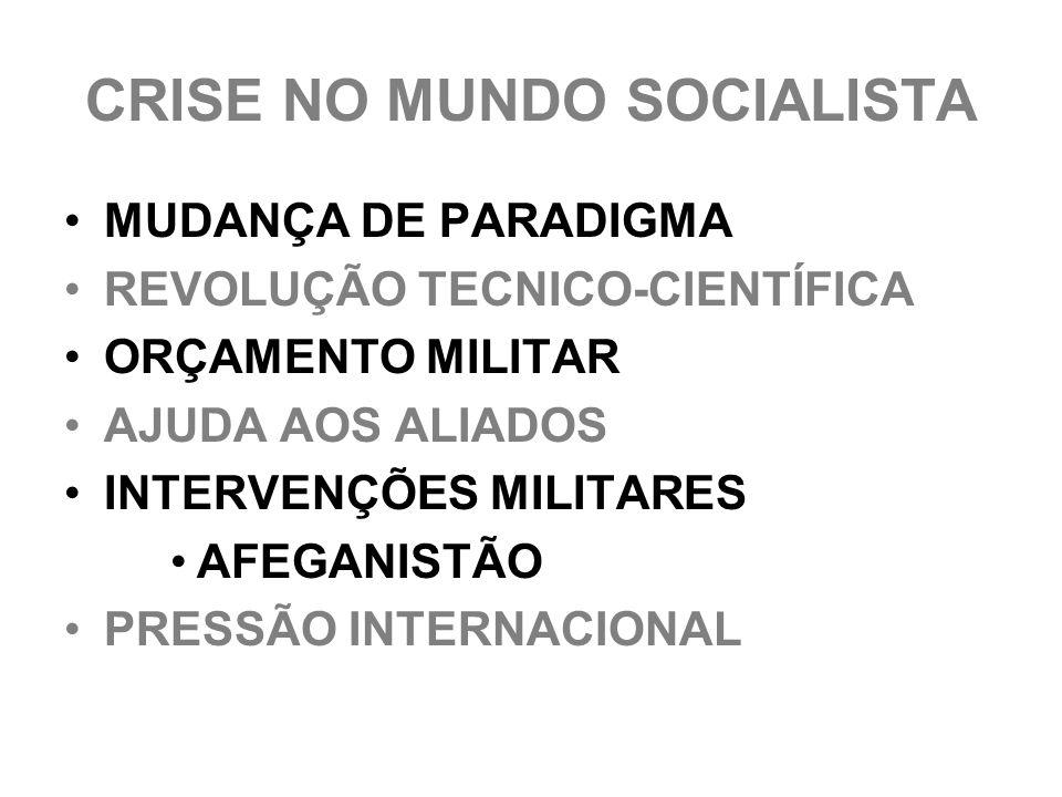 CRISE NO MUNDO SOCIALISTA