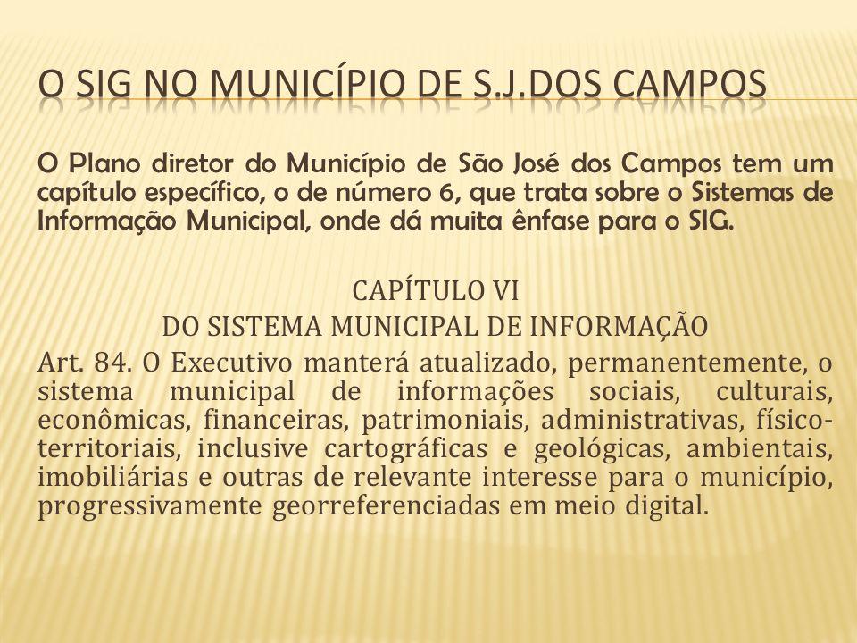 O sig no município de S.j.dos campos