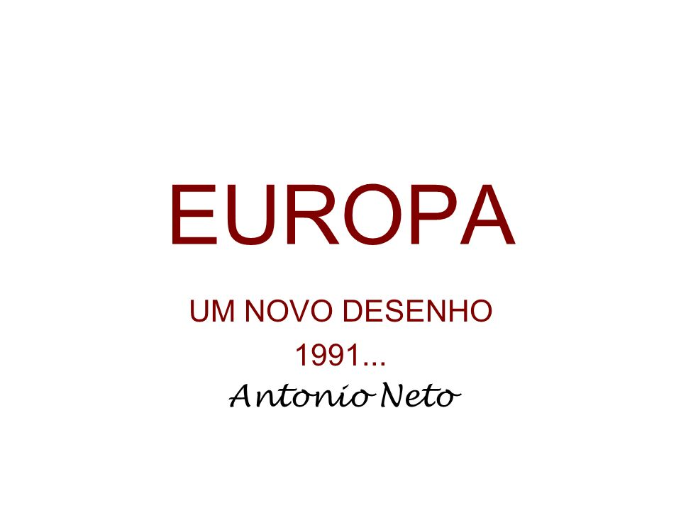 UM NOVO DESENHO 1991... Antonio Neto