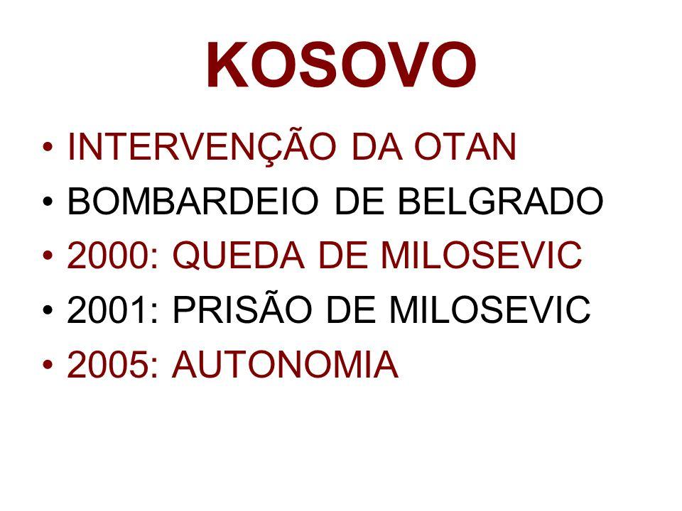 KOSOVO INTERVENÇÃO DA OTAN BOMBARDEIO DE BELGRADO