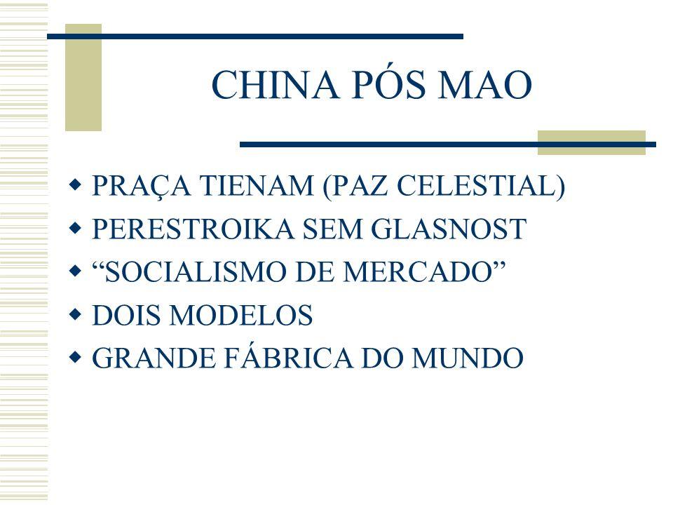 CHINA PÓS MAO PRAÇA TIENAM (PAZ CELESTIAL) PERESTROIKA SEM GLASNOST