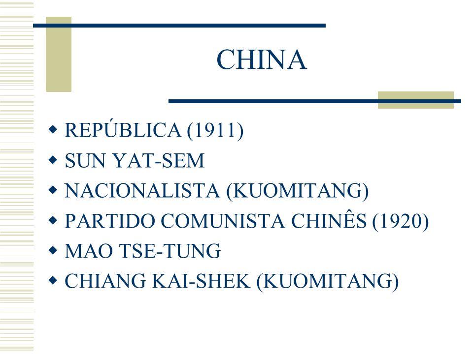 CHINA REPÚBLICA (1911) SUN YAT-SEM NACIONALISTA (KUOMITANG)