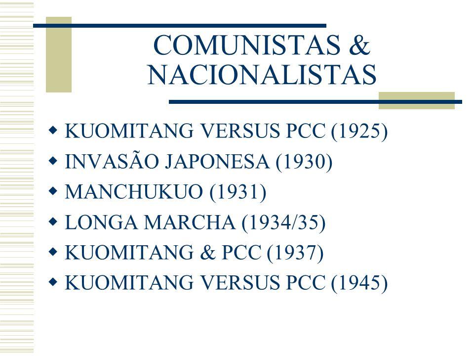 COMUNISTAS & NACIONALISTAS