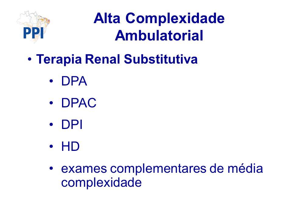 Alta Complexidade Ambulatorial