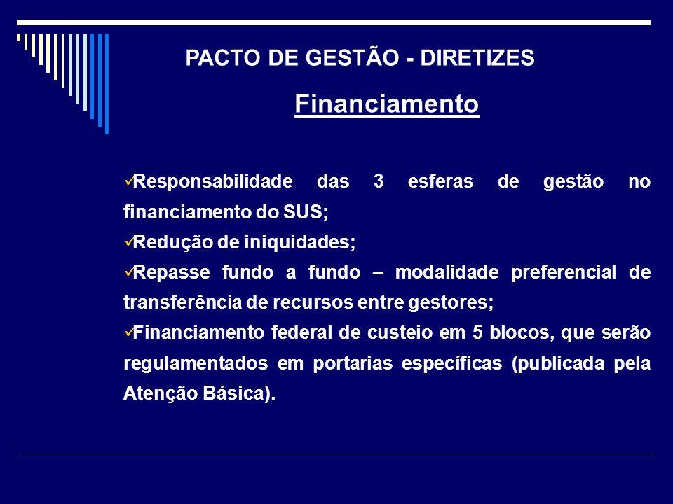 PACTO DE GESTÃO - DIRETIZES
