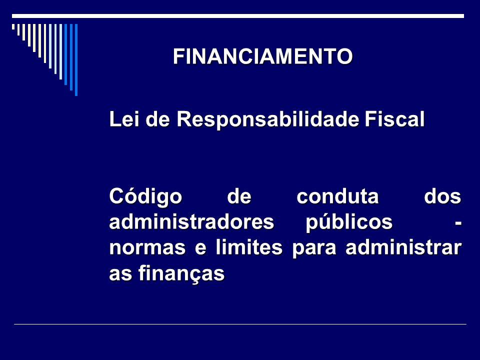 FINANCIAMENTO Lei de Responsabilidade Fiscal.