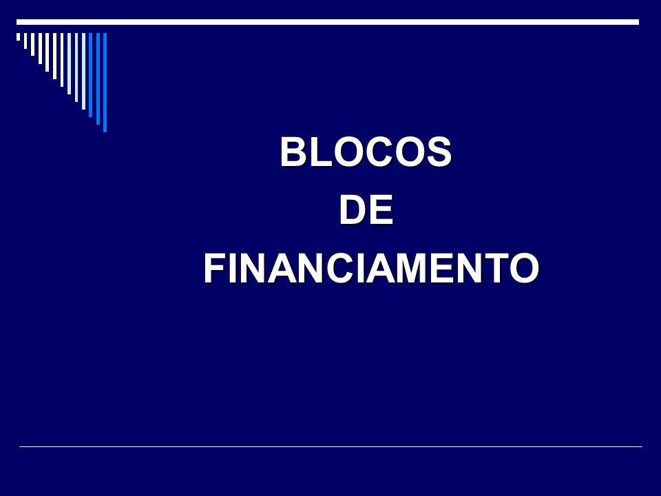 BLOCOS DE FINANCIAMENTO
