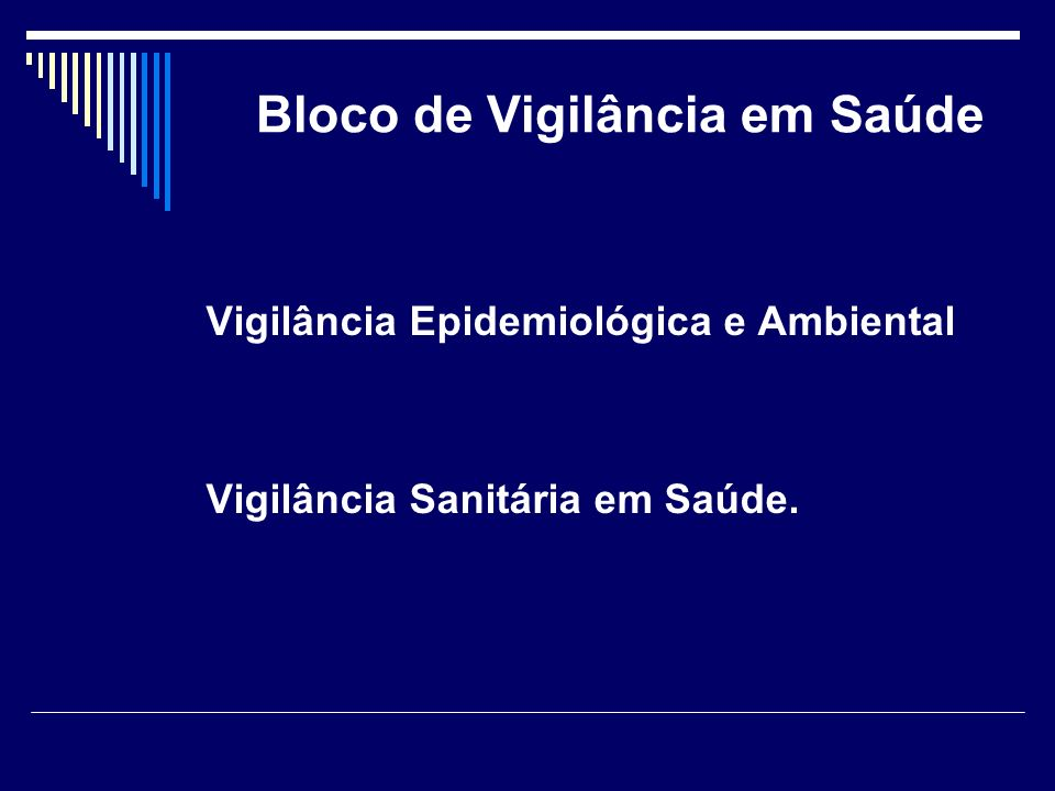 Bloco de Vigilância em Saúde