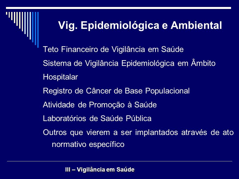 Vig. Epidemiológica e Ambiental