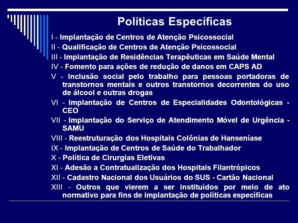 Políticas Específicas
