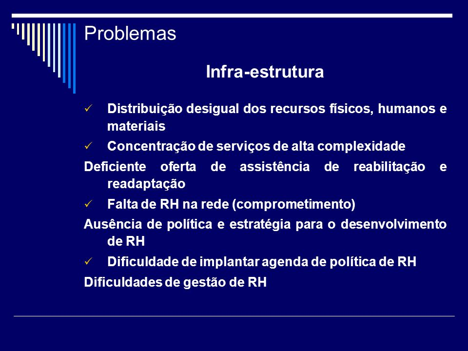 Problemas Infra-estrutura
