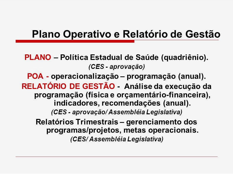 Plano Operativo e Relatório de Gestão