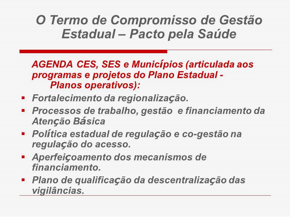 O Termo de Compromisso de Gestão Estadual – Pacto pela Saúde