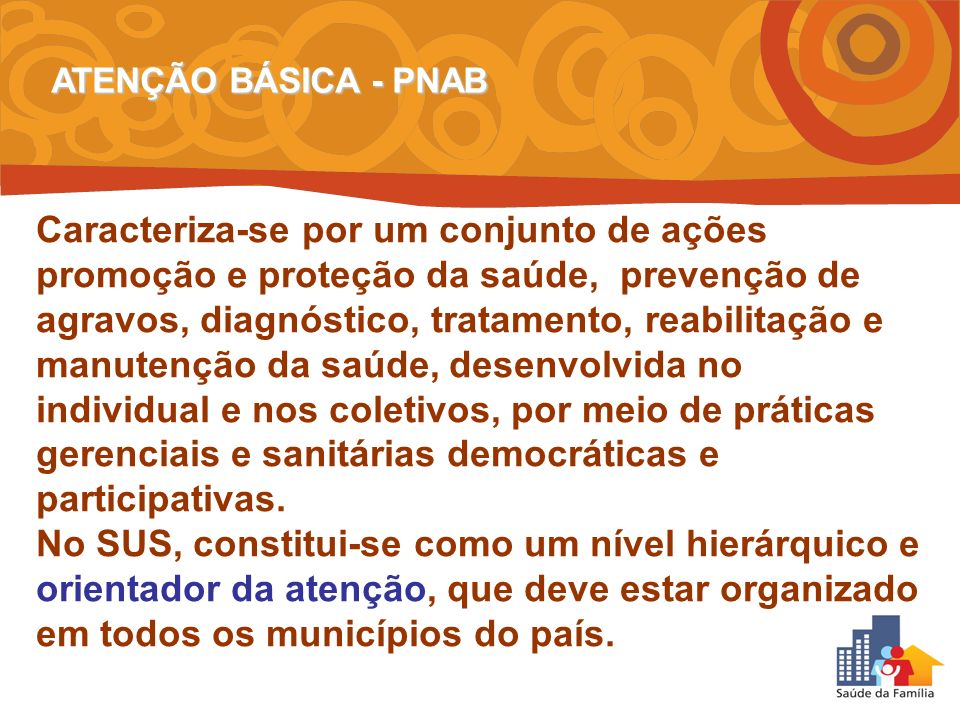 ATENÇÃO BÁSICA - PNAB