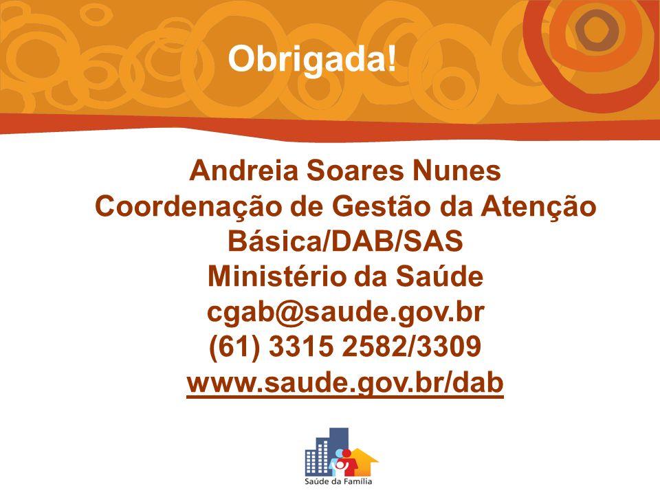 Coordenação de Gestão da Atenção Básica/DAB/SAS