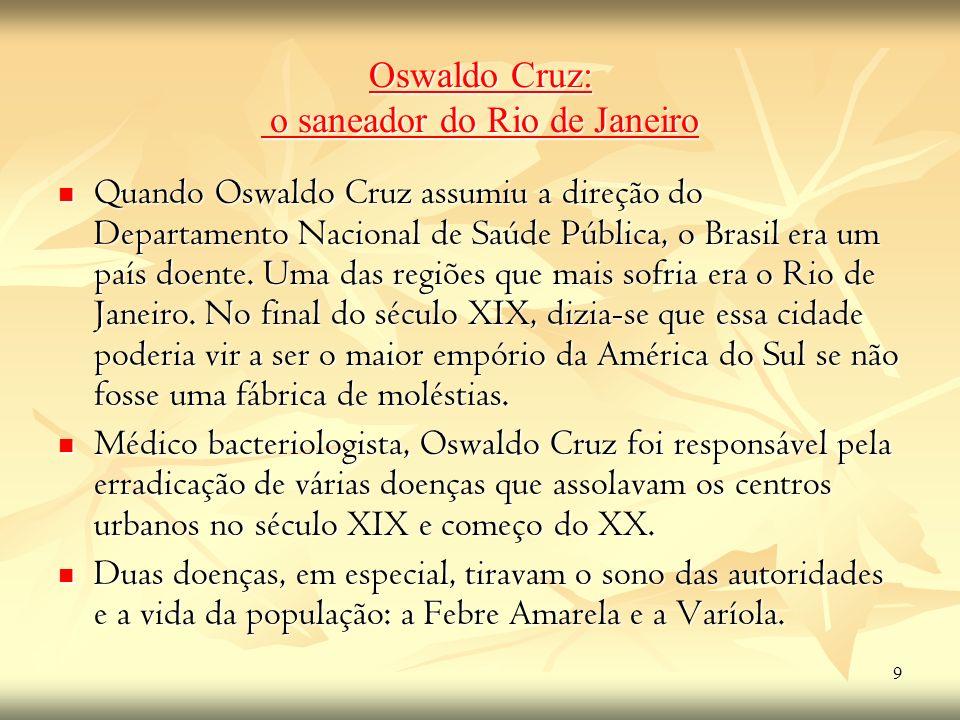 Oswaldo Cruz: o saneador do Rio de Janeiro