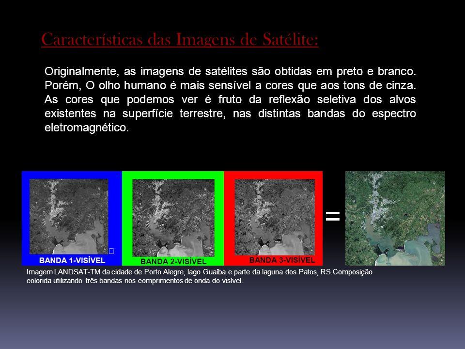 = Características das Imagens de Satélite: