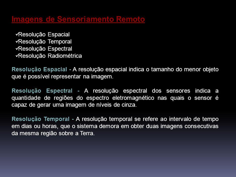 Imagens de Sensoriamento Remoto