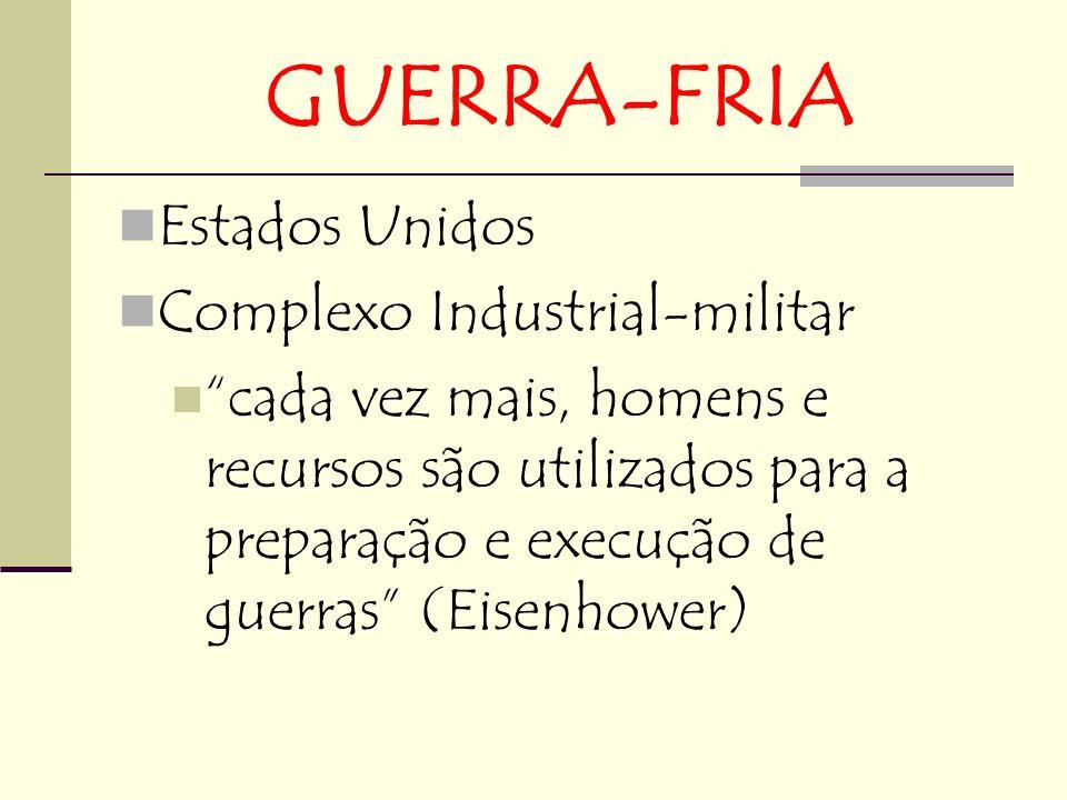 GUERRA-FRIA Estados Unidos Complexo Industrial-militar