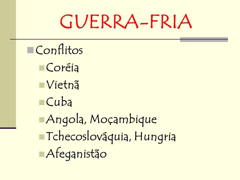 GUERRA-FRIA Conflitos Coréia Vietnã Cuba Angola, Moçambique