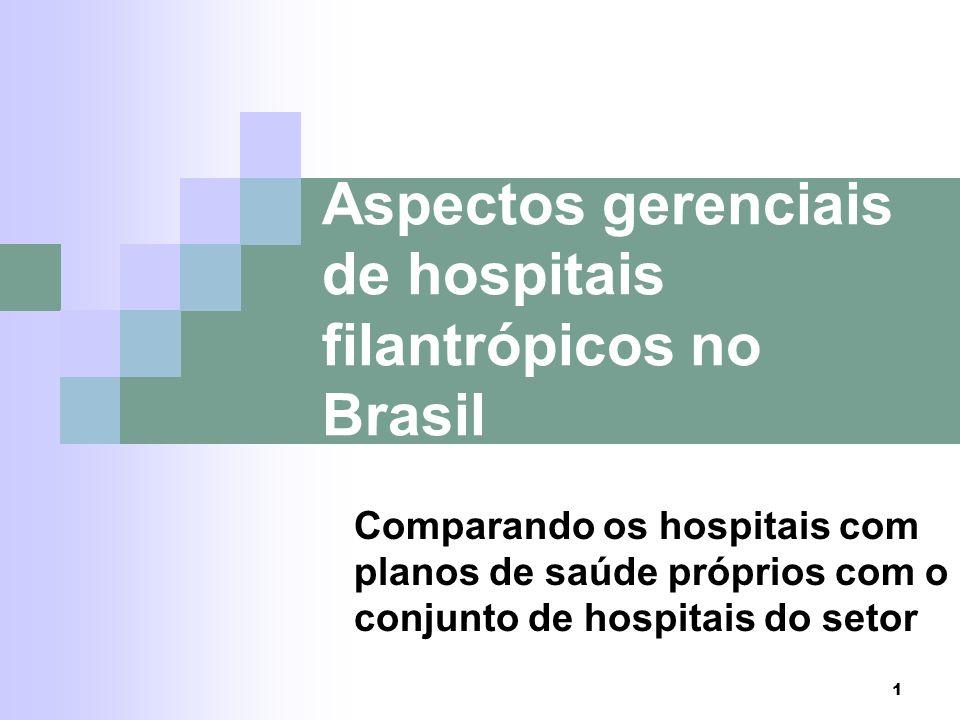 Aspectos gerenciais de hospitais filantrópicos no Brasil