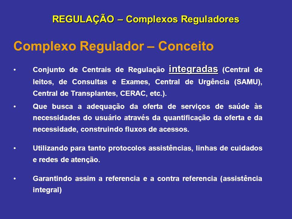 REGULAÇÃO – Complexos Reguladores