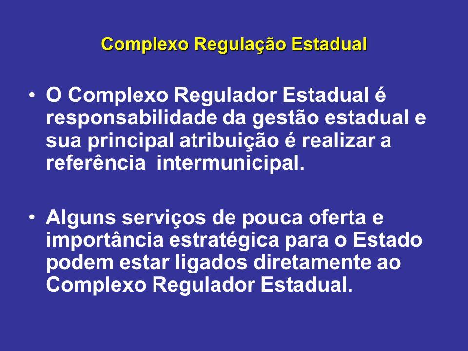 Complexo Regulação Estadual