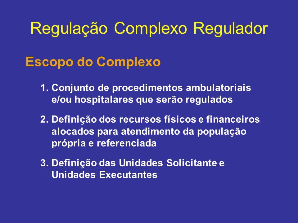 Regulação Complexo Regulador