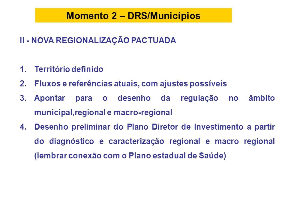 Momento 2 – DRS/Municípios