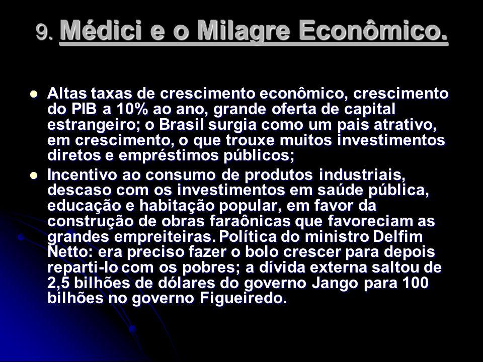 9. Médici e o Milagre Econômico.