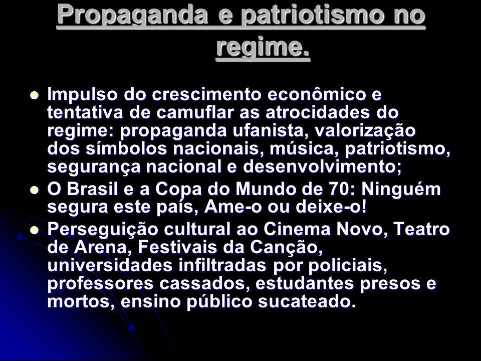 Propaganda e patriotismo no regime.