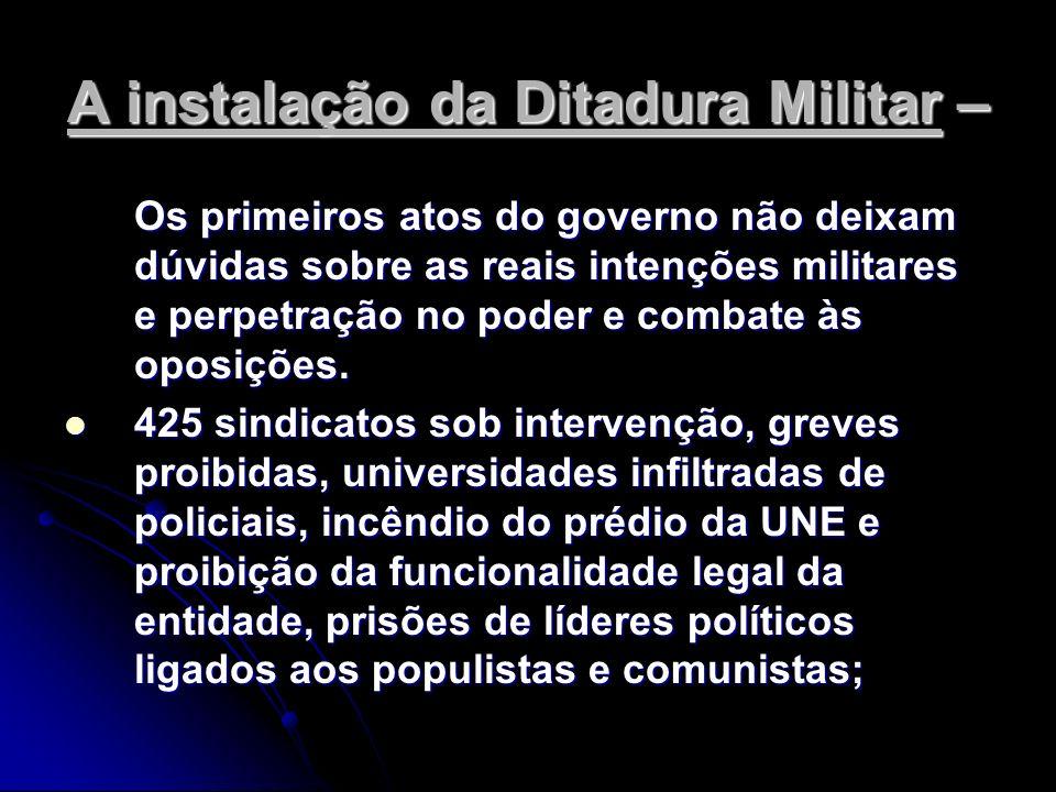 A instalação da Ditadura Militar –