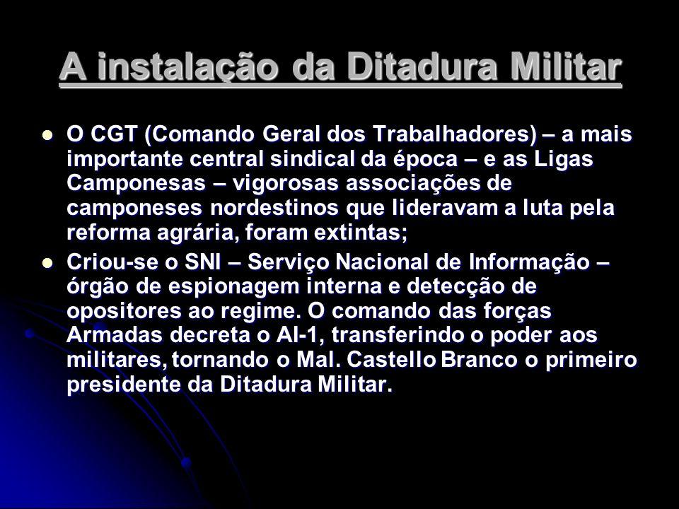 A instalação da Ditadura Militar