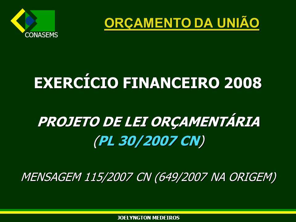 PROJETO DE LEI ORÇAMENTÁRIA