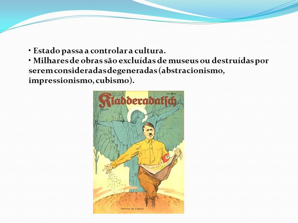• Estado passa a controlar a cultura.