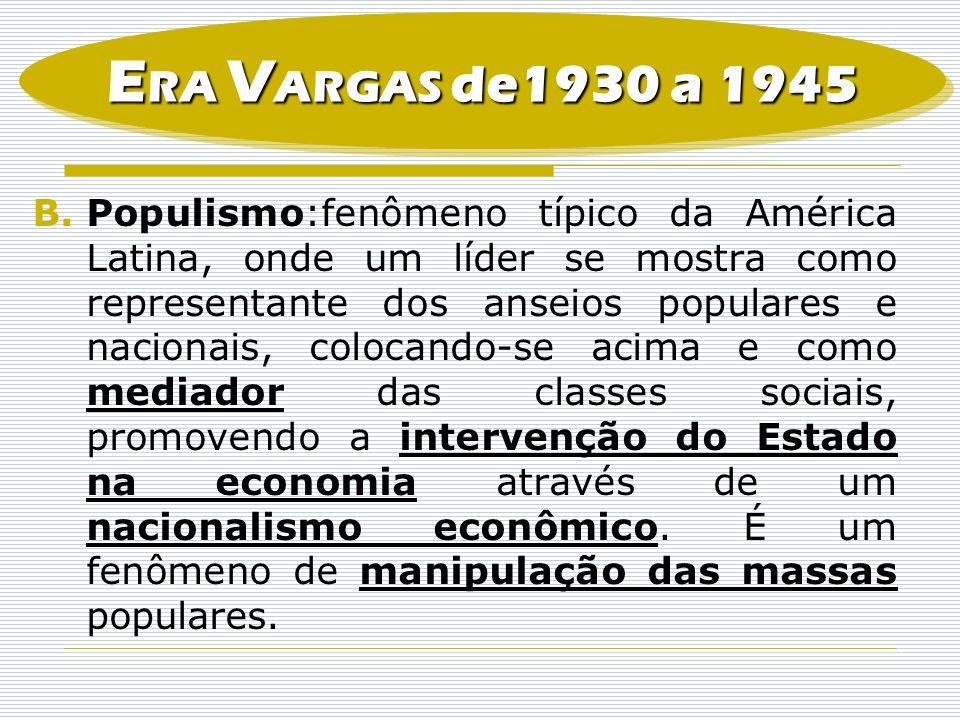 ERA VARGAS de1930 a 1945